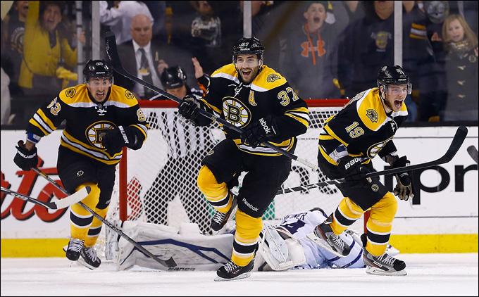 """13 мая 2013 года. Бостон. Плей-офф НХЛ. 1/8 финала. Матч № 7. """"Бостон"""" — """"Торонто"""" — 5:4 (ОТ). Победа! """"Бостон"""" идет дальше!"""