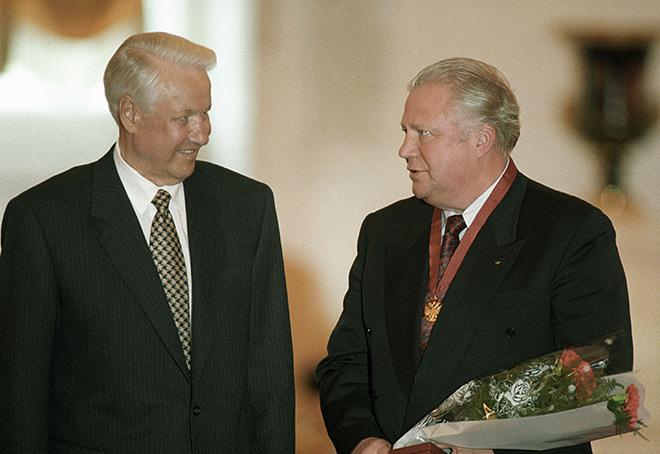 Борис Ельцин и Виталий Смирнов