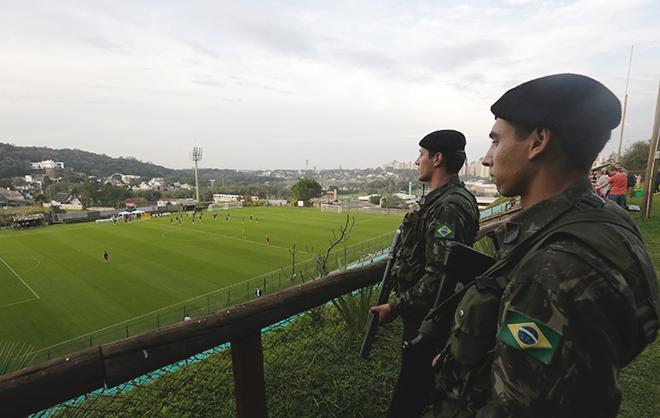 Тренировка сборной России в Бразилии