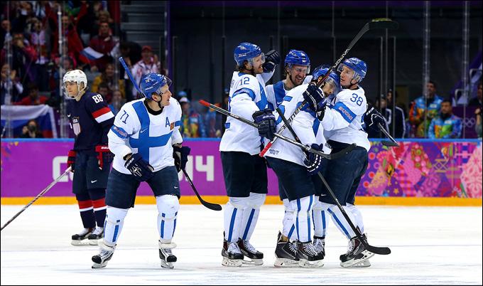22 февраля 2014 года. Сочи. XXII зимние Олимпийские игры. Хоккей. Матч за 3-е место. США — Финляндия — 0:5
