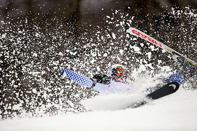 Российский горнолыжник Александр Ахмадуллин не сумел справиться с прохождением дистанции слалома для стоячих спортсменов