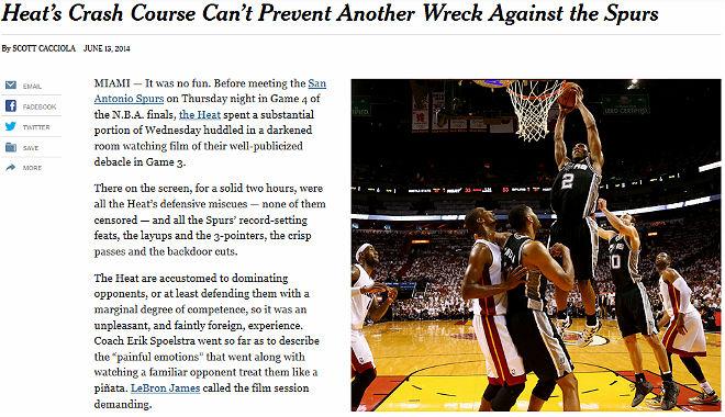 The New York Times: «Очередная поломка помешала «Хит» предотвратить падение»