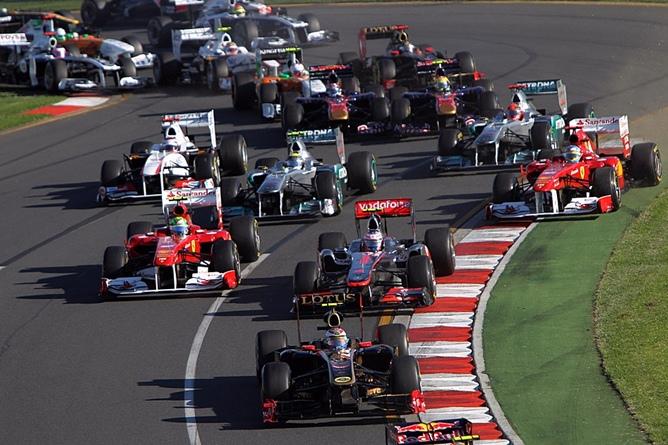 Старт Гран-при Австралии 2011 года