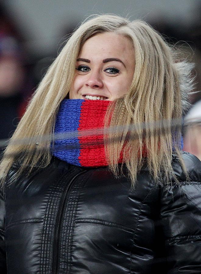 Болельщица ЦСКА
