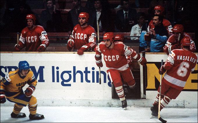 СССР — Швеция. Владимир Крутов и Сергей Макаров