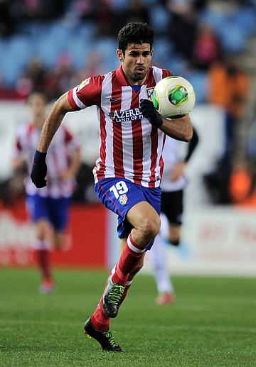 """Лучший снайпер """"Атлетико"""" Диего Коста отличался забитыми мячами в 14 турах сезона. Это лучший показатель в лиге"""