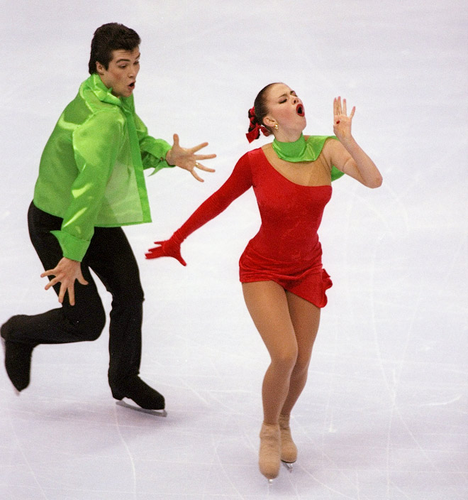 Анна Семенович в паре со своим партнёром Владимиром Фёдоровым
