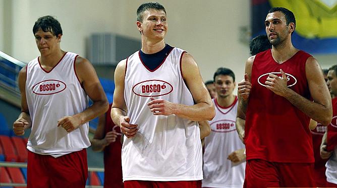 Андрей Воронцевич на открытой тренировке сборной России