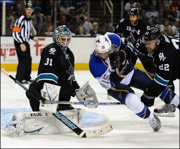 "16 апреля 2012 года. Сан-Хосе. Плей-офф НХЛ. 1/8 финала. ""Сан-Хосе Шаркс"" — ""Сент-Луис Блюз"" — 3:4"