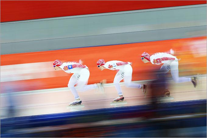 Россиянки прошли в 1/2 командной гонки в конькобежном спорте
