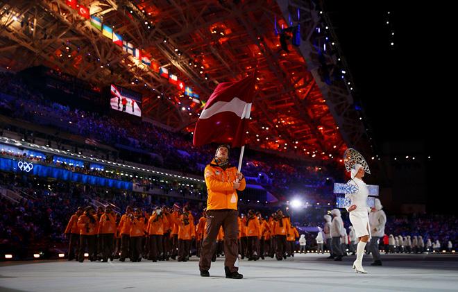 Сандис Озолиньш на Олимпиаде в Сочи