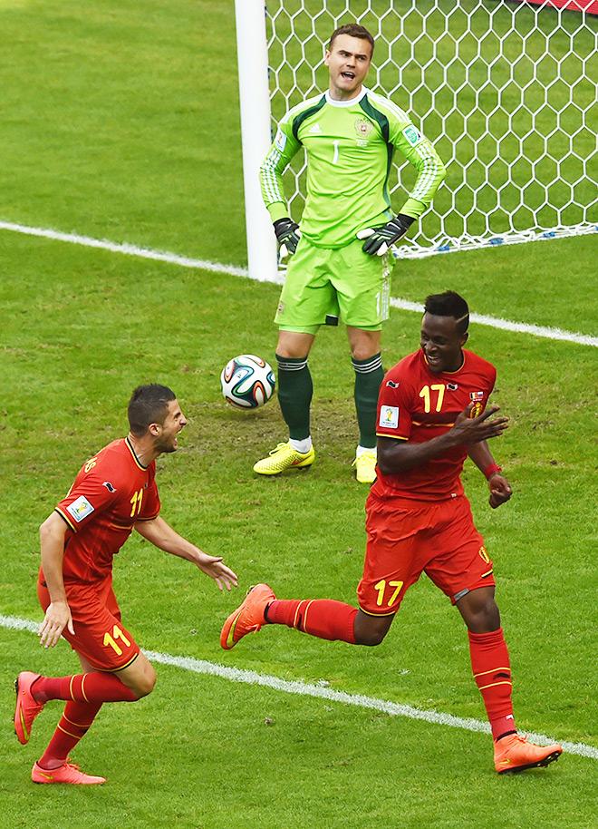 Чемпионат мира — 2014. Группа H. 2-й тур. Бельгия – Россия – 1:0. Сразу после гола…