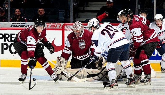 3 января 2011 года. Калгари. Молодежный чемпионат мира. Утешительный раунд. США – Латвия – 12:2