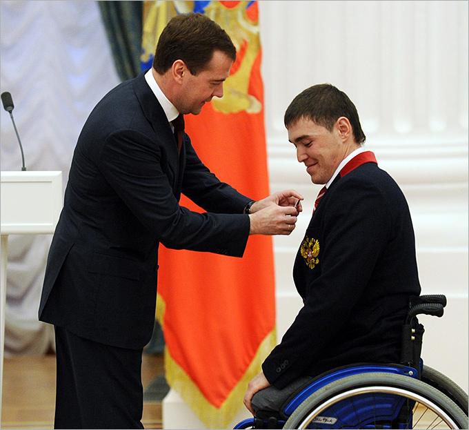 Ирек Зарипов и Дмитрий Медведев