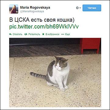 Твиттер Марии Роговской