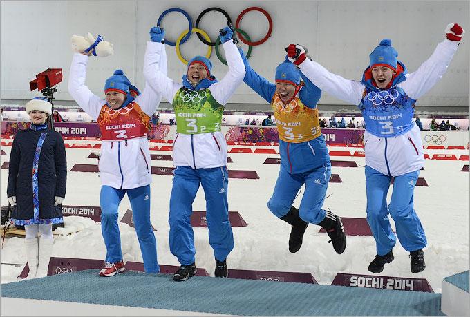 Россиянки взяли серебро в биатлонной эстафете