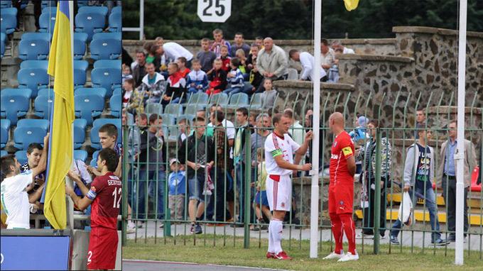Торжественный момент открытия чемпионата в Одессе и в Луцке