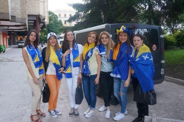 Болельщицы сборной Боснии и Герцеговины