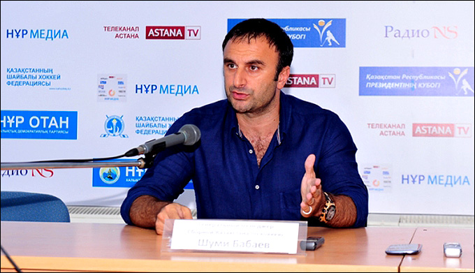 Генеральный менеджер сборной Казахстана Шуми Бабаев