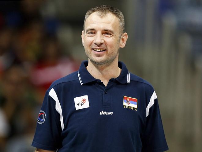 Счастливый Никола Грбич после поединка Сербия — США