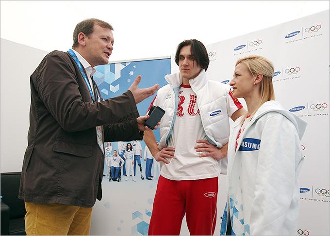 Александр Шмурнов, Максим Траньков и Татьяна Волосожар