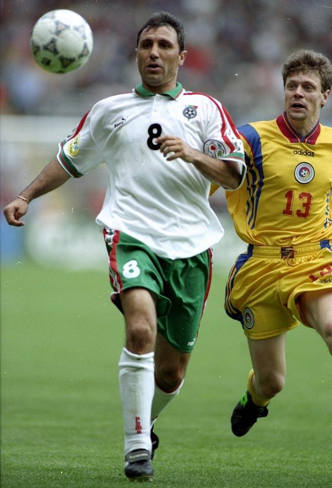 Евро-1996. Болгария – Румыния. Христо Стоичков