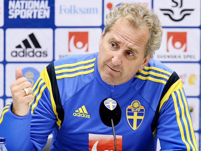 Главный тренер сборной Швеции Эрик Хамрен