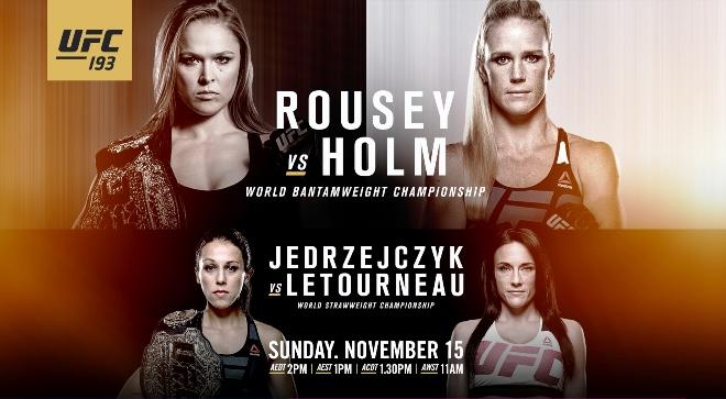 Постер к турниру UFC 193