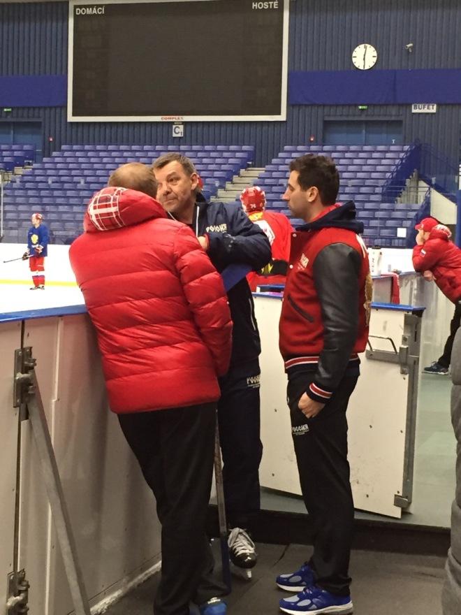 Роман Ротенберг и Алексей Жамнов на тренировке сборной России