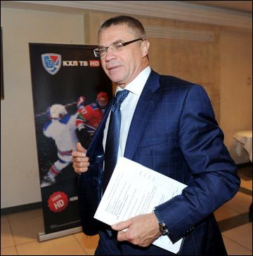 Пресс-конференция, посвященная открытию шестого сезона КХЛ. Александр Медведев