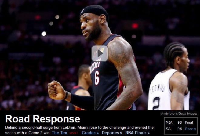 ESPN: «Выездная реакция»