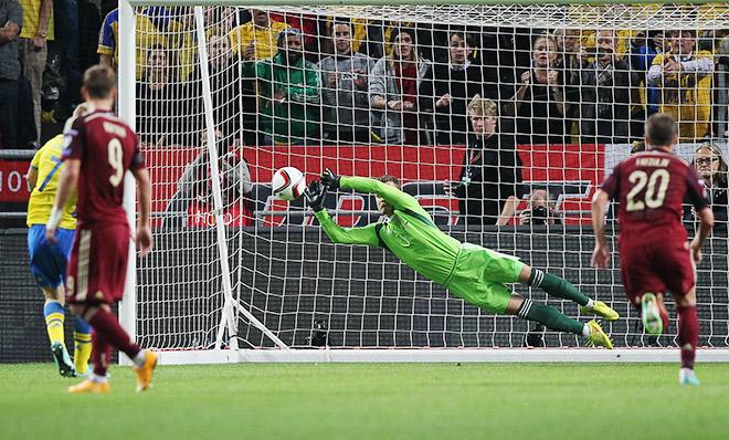 В матче против Швеции