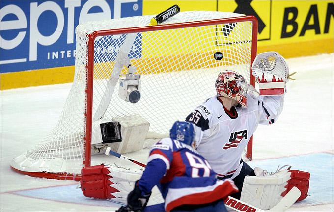 6 мая 2012 года. Хельсинки. Чемпионат мира. Групповой турнир. США — Словаки — 2:4