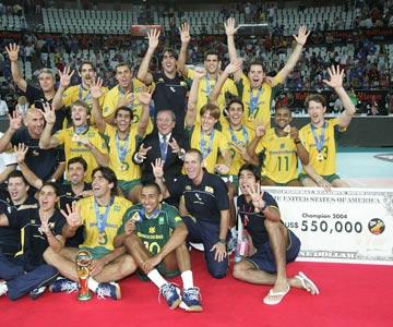 Победители Мировой лиги — 2004. Сборная Бразилии