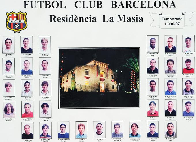 """Молодёжная команда """"Барселоны"""" сезона-1996/97"""