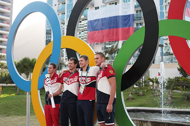 Владимир Морозов и товарищи по команде