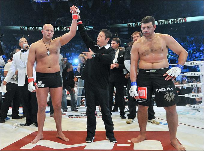 Фёдор Емельяненко и Педру Риззу.