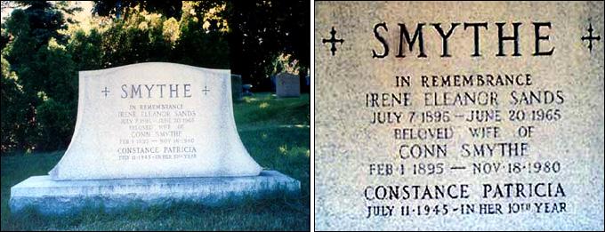 Могила Конна Смайта на муниципальном кладбище Торонто