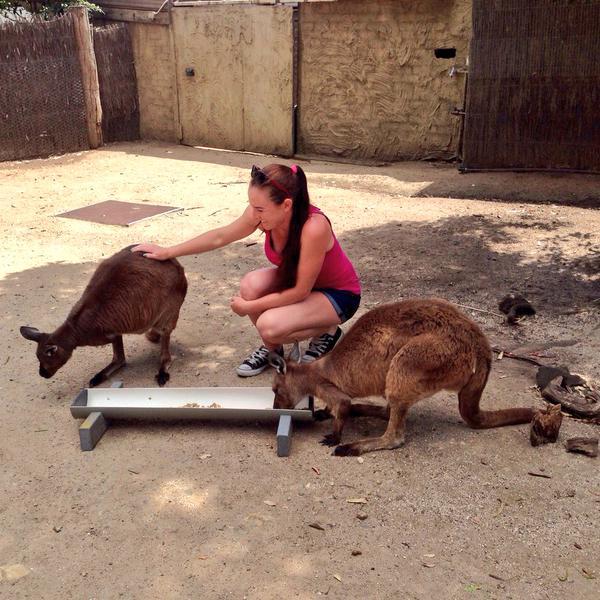 Мэдисон Бренгл посетила местный зоопарк.