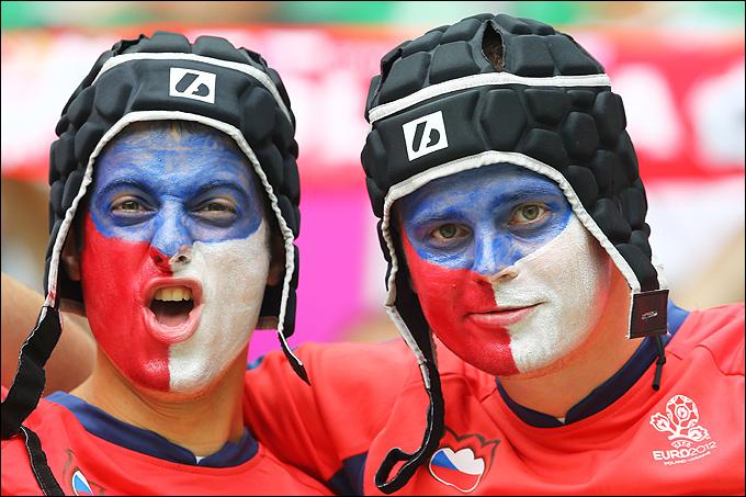 Болельщики сборной Чехии