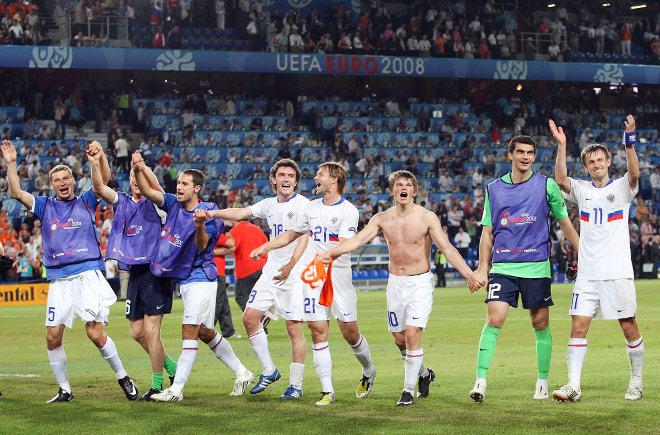 В 2008-м году сборная России играла в полуфинале чемпионата Европы