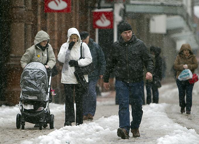 В Белфасте адский мокрый снег с ледяным ветром. Более антифутбольной погоды не встретишь даже в России