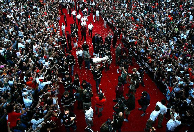 9 июня 2007 года. Анахайм. Парад в честь победы в Кубке Стэнли