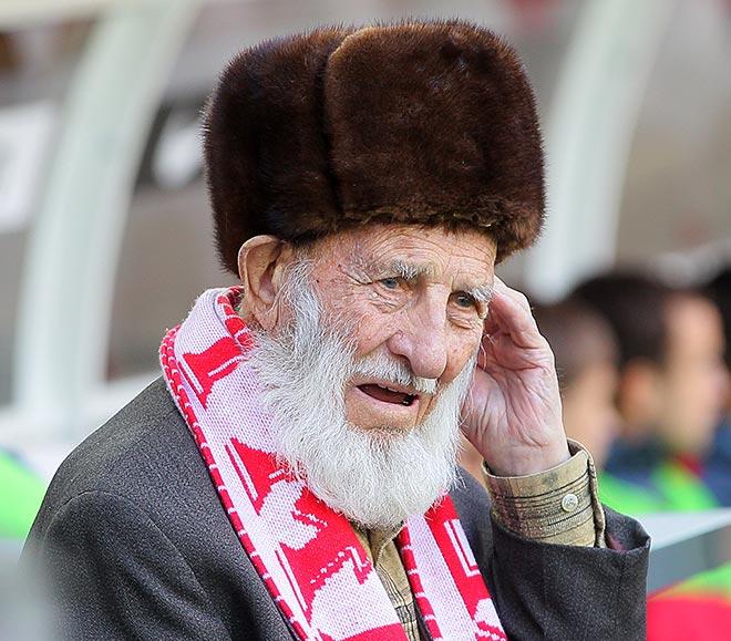 102-летний Отто Фишер, старейший из живущих болельщиков «Спартака»
