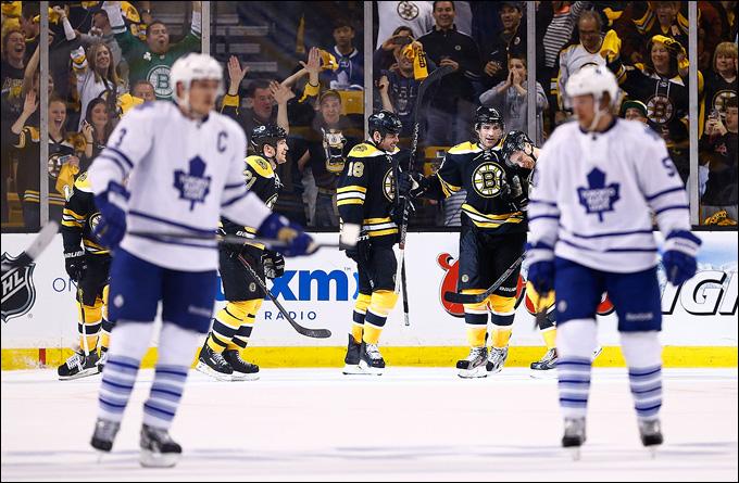 """1 мая 2013 года. Бостон. Плей-офф НХЛ. 1/8 финала. Матч № 1. """"Бостон"""" — """"Торонто"""" — 4:1"""
