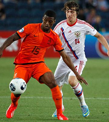 Евро—2013 (U-21). Россия — Нидерланды — 1:5. Павел Яковлев против Жоржиньо Вейналдума