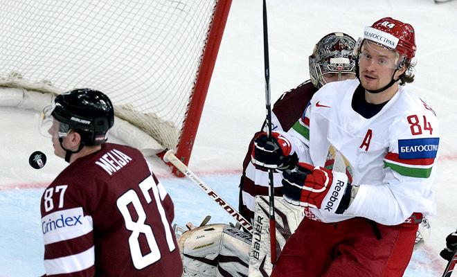 19 мая 2014 года. Минск. Чемпионат мира. Групповой этап. Латвия — Белоруссия — 1:3