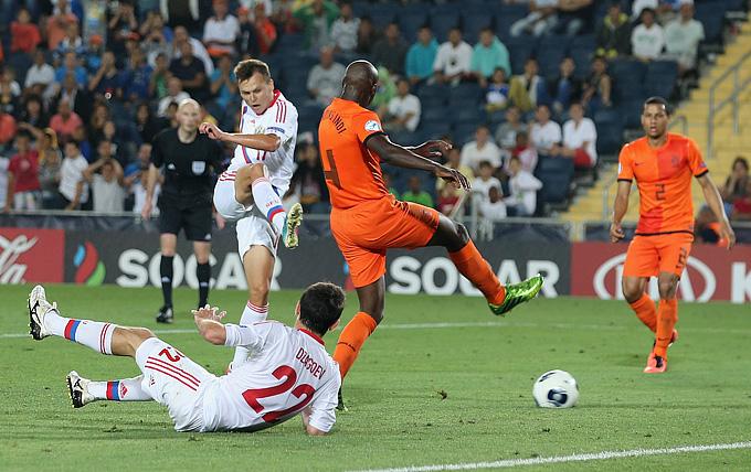 Евро—2013 (U-21). Россия — Нидерланды — 1:5. Гол Дениса Черышева