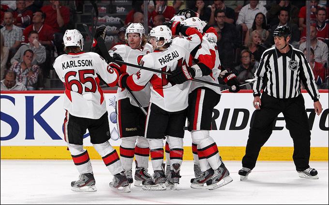 """2 мая 2013 года. Монреаль. Плей-офф НХЛ. 1/8 финала. Матч № 1. """"Монреаль"""" — """"Оттава"""" — 2:4. """"Оттава"""" отбирает у """"Монреаля"""" преимущество своей площадки"""