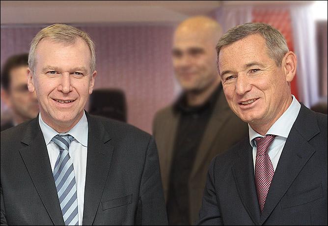 Игорь Макаров и премьер-министр Бельгии Ив Летерм